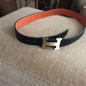 Men's authentic Hermes belt. Size 32-40.